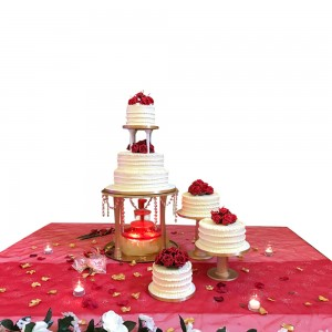 Rose Fountain Wedding Cake