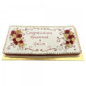Buttercream congratulation cake
