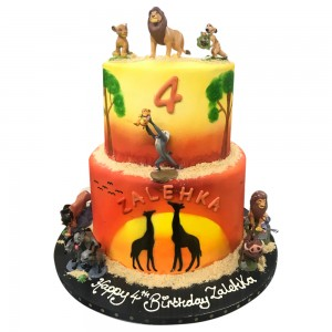 Lion King two tier cake