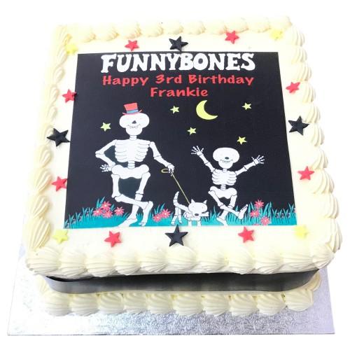 Funnybones Buttercream Cake
