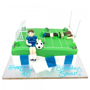 Football and Rugby Cake Toppers cake