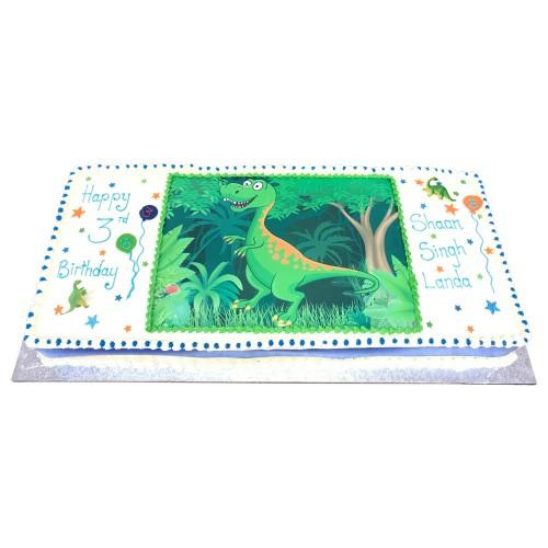 Cartoon dinosaur picture cake