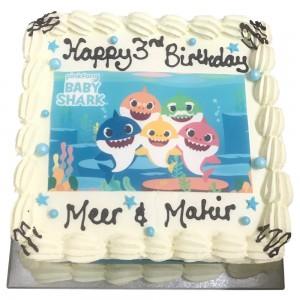 Baby Shark Freshcream Cake
