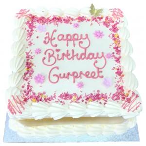 Pink Sprinkles Freshcream Cake