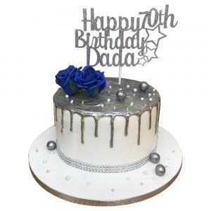 Grandads Silver Drip Cake