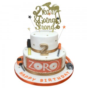 Zorro Corporate Anniversary 2 tier cake