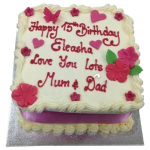 Girls 13th Buttercream Cake