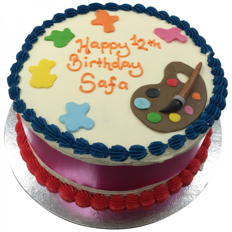 Magnificent Colourful Junior Painter Cake Call Us Now Leicester Funny Birthday Cards Online Hendilapandamsfinfo