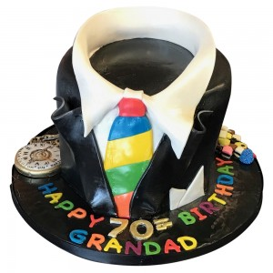 Round Suite and Funky Tie Cake