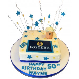 Sqaure Fosters Themed Cake
