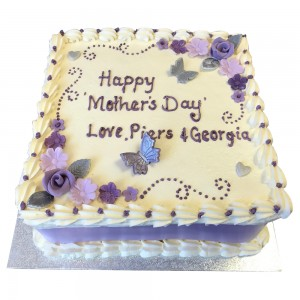Lilac Mothers Day Cake