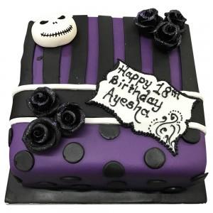 Purple Beetlejuice Cake