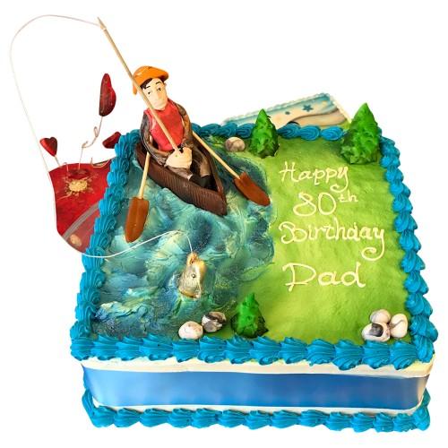Square Fisherman Cake