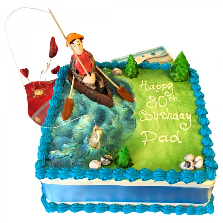 Brilliant Square Fisherman Cake Leicester Birthday Cakes Funny Birthday Cards Online Elaedamsfinfo
