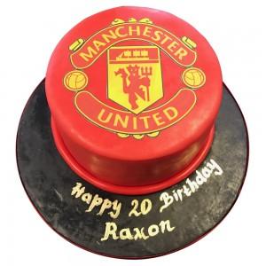 Round Man utd cake