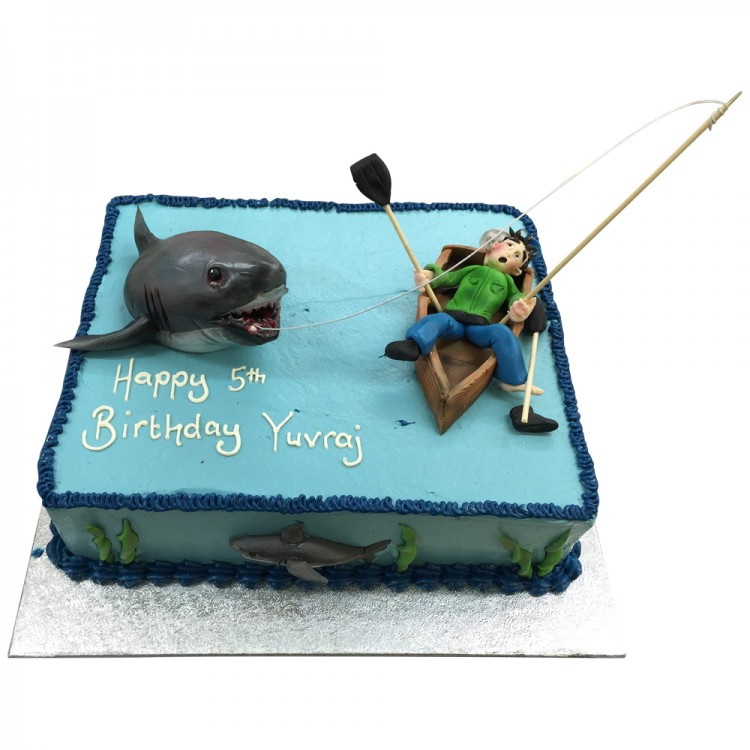 Pleasant Fisherman Birthday Cake Oldies Cakes Leicester Funny Birthday Cards Online Elaedamsfinfo