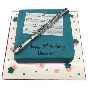 Flute Performer Cake