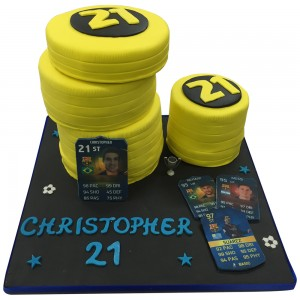 FIFA Ultimate Team Football Cake