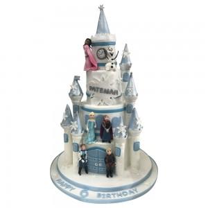 Frozen Movie Castle Cake