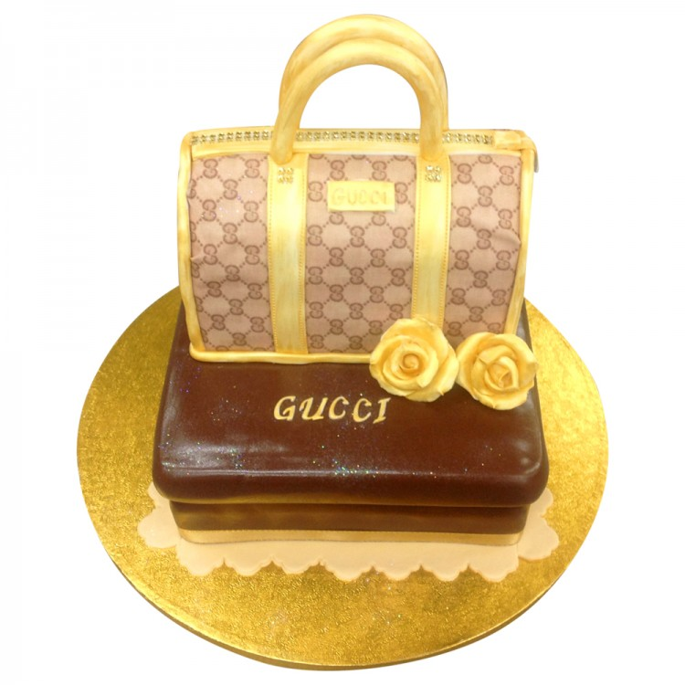 Gucci Box and Bag Cake