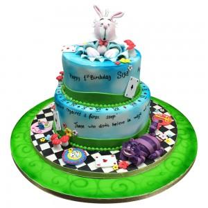 Junior Alice in Wonderland Cake