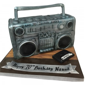Old School Stereo Cake
