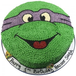 Purple Turtles Face Cake
