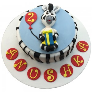 Zebra Cartoon Cake