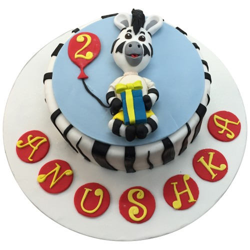 Marvelous Zebra Birthday Cake Childrens Birthday Cakes Leics Funny Birthday Cards Online Alyptdamsfinfo